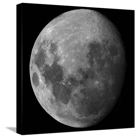 Three Quarter Moon-Stocktrek Images-Stretched Canvas Print