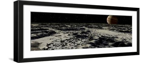 Jupiter's Moon, Europa, Covered by a Thick Crust of Ice-Stocktrek Images-Framed Art Print