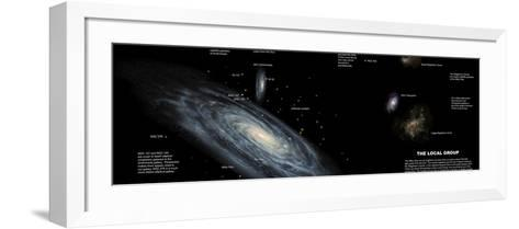 The Milky Way and the Other Members of Our Local Group of Galaxies-Stocktrek Images-Framed Art Print