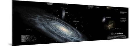 The Milky Way and the Other Members of Our Local Group of Galaxies-Stocktrek Images-Mounted Photographic Print