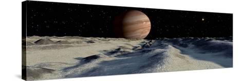 Jupiter's Large Moon, Europa, is Covered by a Thick Crust of Ice-Stocktrek Images-Stretched Canvas Print