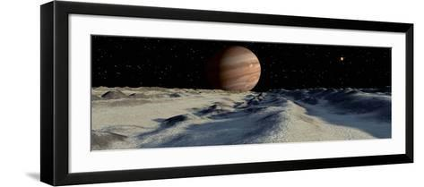 Jupiter's Large Moon, Europa, is Covered by a Thick Crust of Ice-Stocktrek Images-Framed Art Print
