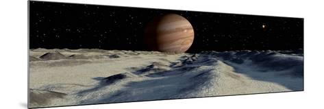Jupiter's Large Moon, Europa, is Covered by a Thick Crust of Ice-Stocktrek Images-Mounted Photographic Print