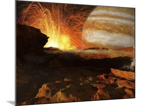 A Scene on Jupiter's Moon, Io, the Most Volcanic Body in the Solar System-Stocktrek Images-Mounted Photographic Print