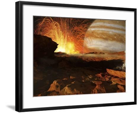 A Scene on Jupiter's Moon, Io, the Most Volcanic Body in the Solar System-Stocktrek Images-Framed Art Print