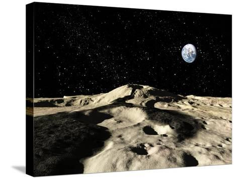 An Ancient Lava Flow on Earth's Moon-Stocktrek Images-Stretched Canvas Print
