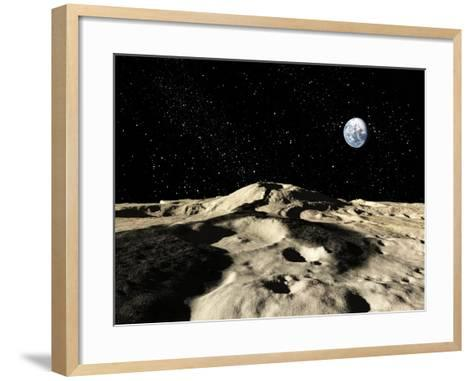 An Ancient Lava Flow on Earth's Moon-Stocktrek Images-Framed Art Print