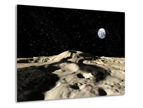 An Ancient Lava Flow on Earth's Moon-Stocktrek Images-Metal Print