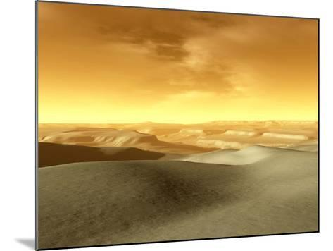 Artist's Concept of the Terrain Near the South Pole of Mars-Stocktrek Images-Mounted Photographic Print