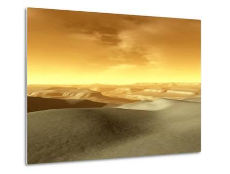Artist's Concept of the Terrain Near the South Pole of Mars-Stocktrek Images-Metal Print