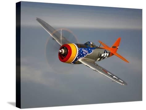 A Republic P-47D Thunderbolt in Flight-Stocktrek Images-Stretched Canvas Print