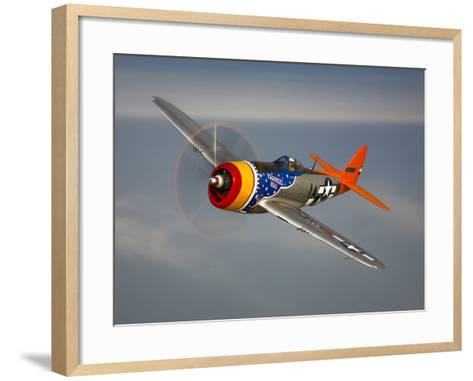 A Republic P-47D Thunderbolt in Flight-Stocktrek Images-Framed Art Print