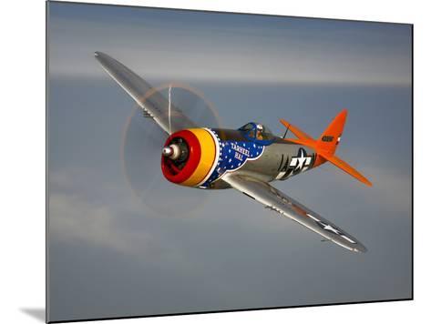 A Republic P-47D Thunderbolt in Flight-Stocktrek Images-Mounted Photographic Print