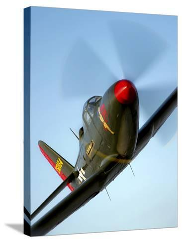 A Bell P-63 Kingcobra in Flight-Stocktrek Images-Stretched Canvas Print