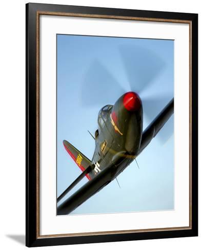 A Bell P-63 Kingcobra in Flight-Stocktrek Images-Framed Art Print