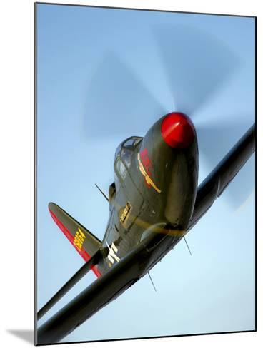 A Bell P-63 Kingcobra in Flight-Stocktrek Images-Mounted Photographic Print