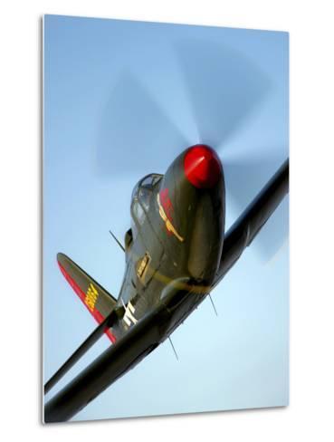 A Bell P-63 Kingcobra in Flight-Stocktrek Images-Metal Print