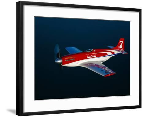 Strega, a Highly Modified P-51D Mustang Used in Unlimited Air Racing-Stocktrek Images-Framed Art Print