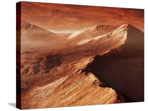 A Light Winter's Frost Forms in Mojave Crater, Trapped by the Crater's Mountainous Walls-Stocktrek Images-Stretched Canvas Print
