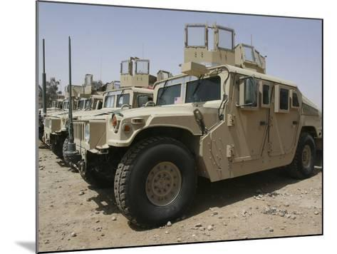 A Row of Humvees from Task Force Military Police-Stocktrek Images-Mounted Photographic Print