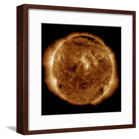 A Dark Rift in the Sun's Atmosphere known as a Coronal Hole-Stocktrek Images-Framed Art Print
