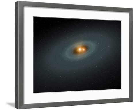 A Tight Pair of Stars and a Surrounding Disk of Dust-Stocktrek Images-Framed Art Print