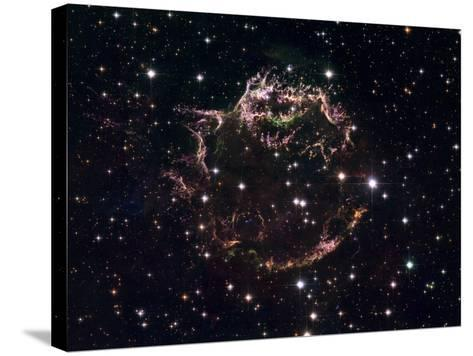 A Detailed View at the Tattered Remains of a Supernova Explosion known as Cassiopeia A-Stocktrek Images-Stretched Canvas Print