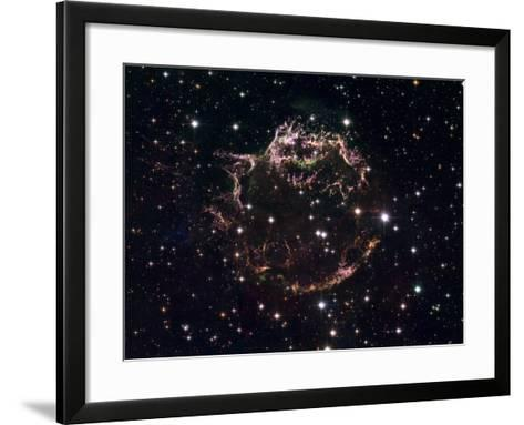 A Detailed View at the Tattered Remains of a Supernova Explosion known as Cassiopeia A-Stocktrek Images-Framed Art Print