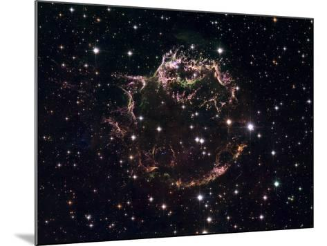 A Detailed View at the Tattered Remains of a Supernova Explosion known as Cassiopeia A-Stocktrek Images-Mounted Photographic Print