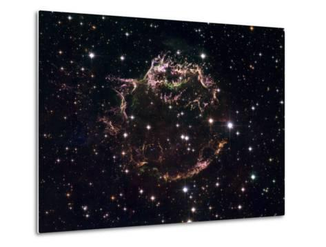 A Detailed View at the Tattered Remains of a Supernova Explosion known as Cassiopeia A-Stocktrek Images-Metal Print