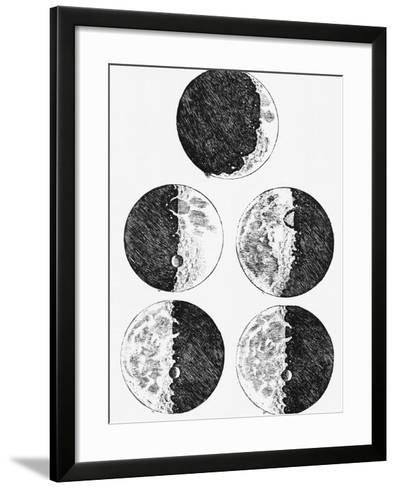 Galileo's Drawings of the Phases of the Moon-Stocktrek Images-Framed Art Print