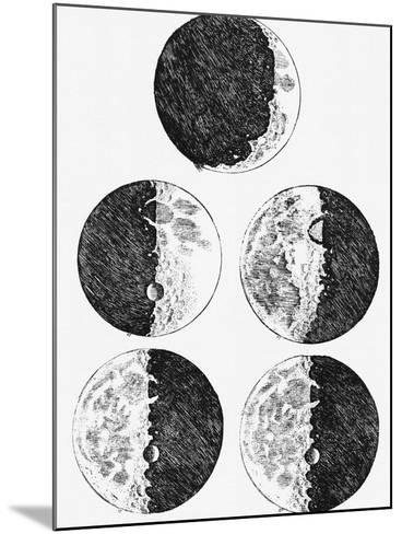 Galileo's Drawings of the Phases of the Moon-Stocktrek Images-Mounted Photographic Print