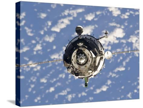 The Soyuz TMA-01M Spacecraft-Stocktrek Images-Stretched Canvas Print