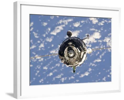 The Soyuz TMA-01M Spacecraft-Stocktrek Images-Framed Art Print