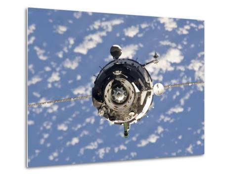 The Soyuz TMA-01M Spacecraft-Stocktrek Images-Metal Print