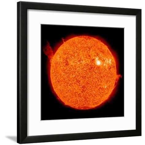 Solar Activity on the Sun-Stocktrek Images-Framed Art Print