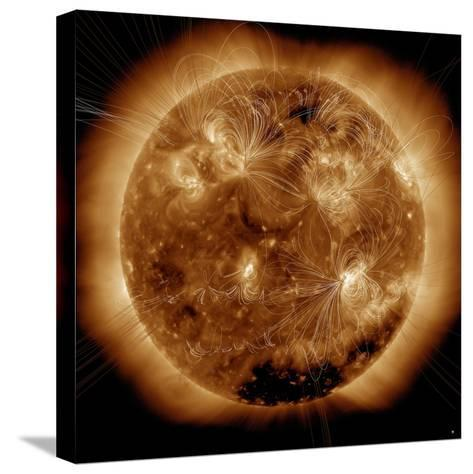 Magnetic Field Lines on the Sun-Stocktrek Images-Stretched Canvas Print