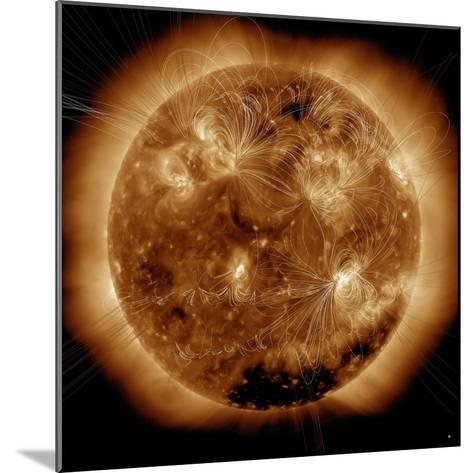 Magnetic Field Lines on the Sun-Stocktrek Images-Mounted Photographic Print
