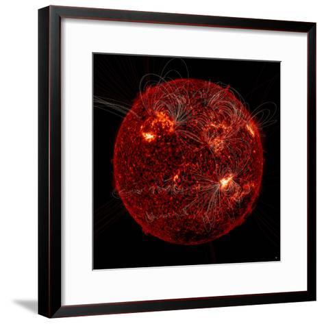 Magnetic Field Lines on the Sun-Stocktrek Images-Framed Art Print