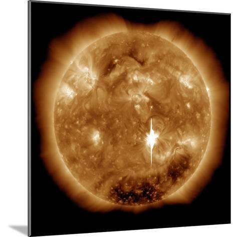 A Massive X-Class Solar Flare Erupts on the Sun-Stocktrek Images-Mounted Photographic Print