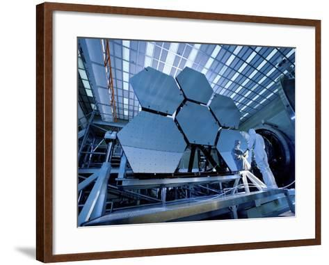 A James Webb Space Telescope Array Being Tested in the X-Ray and Cryogenic Facility-Stocktrek Images-Framed Art Print