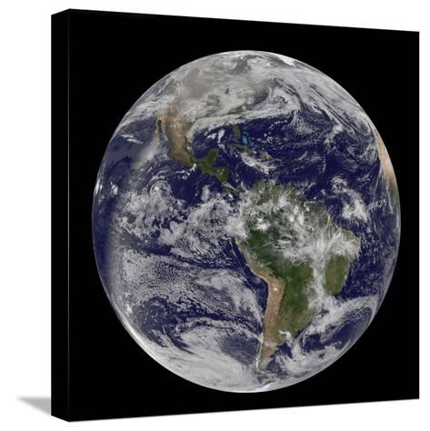 Full Earth Showing North America and South America-Stocktrek Images-Stretched Canvas Print