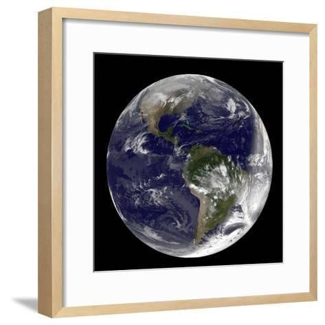Full Earth Showing North America and South America-Stocktrek Images-Framed Art Print