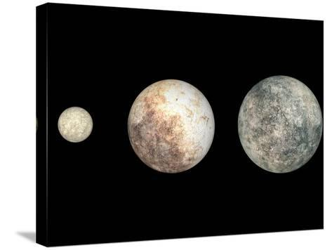 Dwarf Planets Ceres, Pluto, and Eris-Stocktrek Images-Stretched Canvas Print