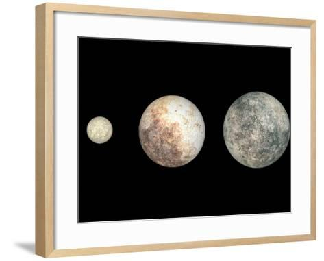 Dwarf Planets Ceres, Pluto, and Eris-Stocktrek Images-Framed Art Print