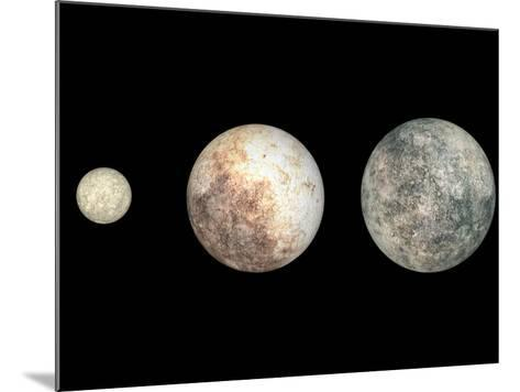 Dwarf Planets Ceres, Pluto, and Eris-Stocktrek Images-Mounted Photographic Print