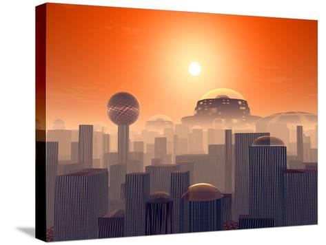 Artist's Concept of an Earth Buried by Layers of Cities Built by Generations of Our Descendants-Stocktrek Images-Stretched Canvas Print