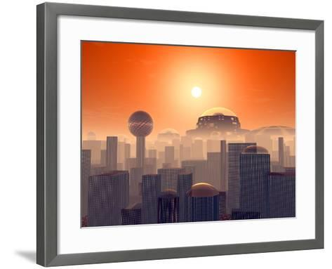 Artist's Concept of an Earth Buried by Layers of Cities Built by Generations of Our Descendants-Stocktrek Images-Framed Art Print