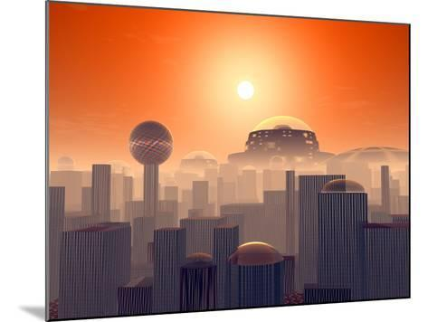 Artist's Concept of an Earth Buried by Layers of Cities Built by Generations of Our Descendants-Stocktrek Images-Mounted Photographic Print