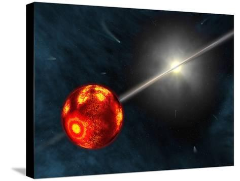 Artist's Concept of the Formation of the Solar System-Stocktrek Images-Stretched Canvas Print